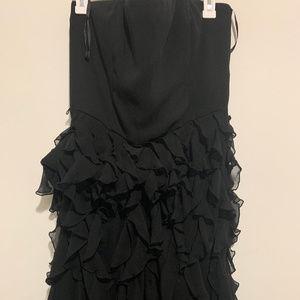WHITE HOUSE BLACK MARKET - Black ruffle dress